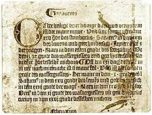 Первый печатный календарь Гутенберга 1448 г